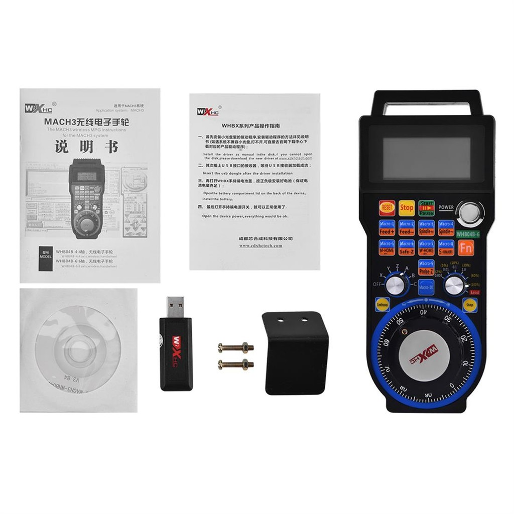 XHC Mach3 WHB04B6 Axis USB CNC Wireless Handwheel 100PPR MPG