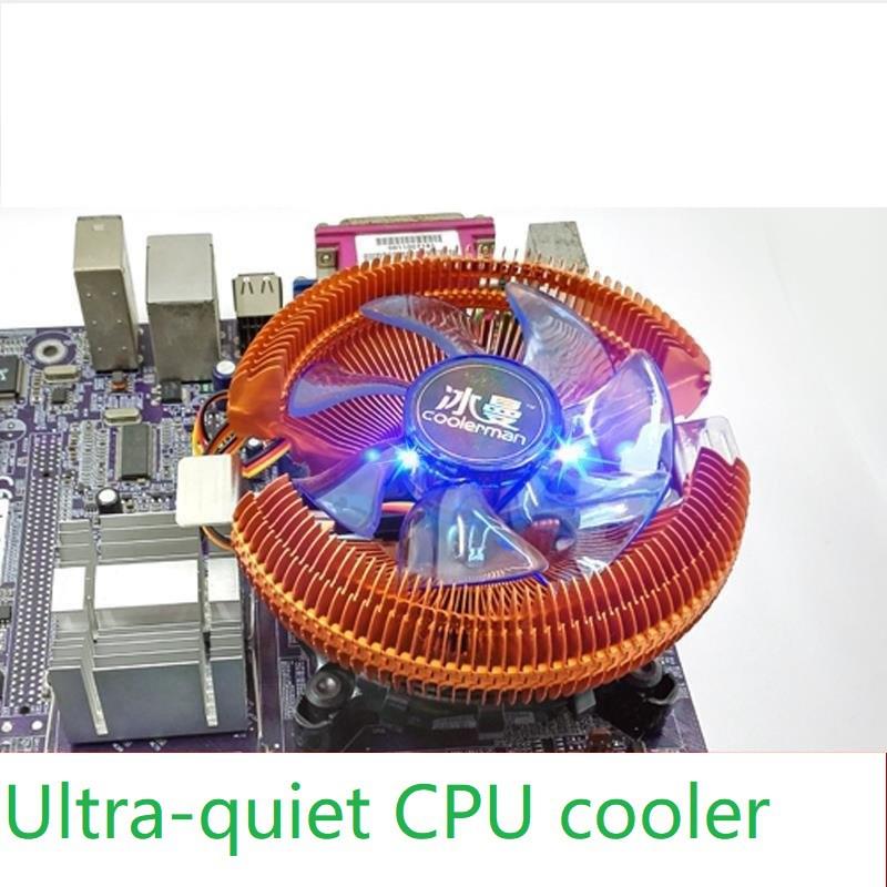 CPU Radiator Ultra Mute CPU Fan 775amd1155 desktop PC i3