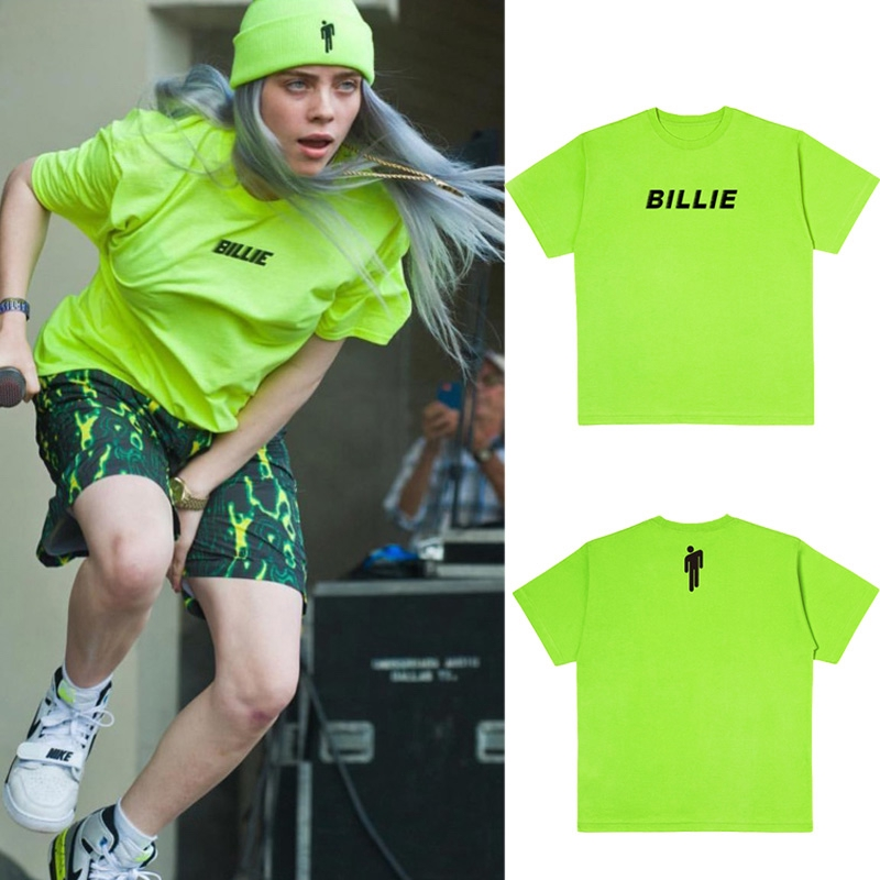 Billie Eilish Yellow Green T Shirt Black Letter Streetwear Grunge Short Sleeve Tops Shopee Philippines