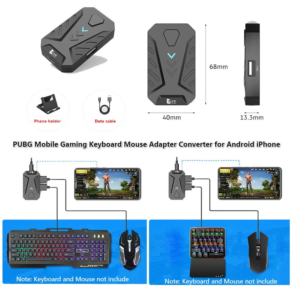 PUBG Gaming Keyboard Mouse Converter for Android iPhone