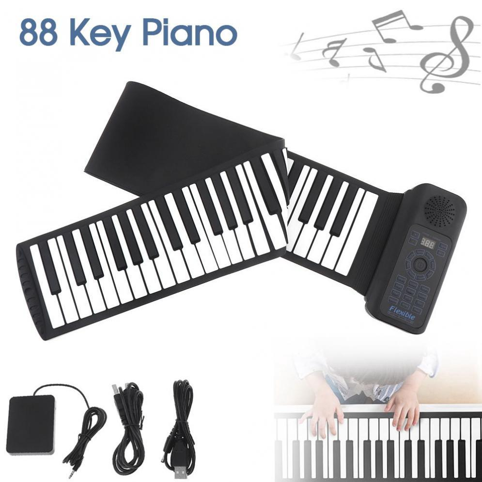 Musical Toy Instruments Digital Roll Up Keyboard Piano USB