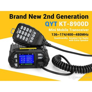 QYT KT-8900D Dual Band Quad Monitor 25 Watts Mobile Radio ... on