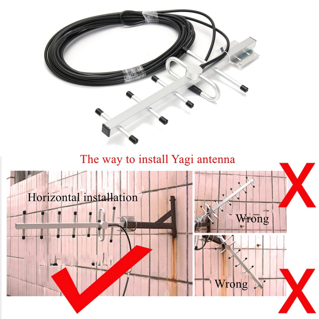 40Mhz Cell Phone Signal GSM Repeater Booster Amplifier Yagi Antenna