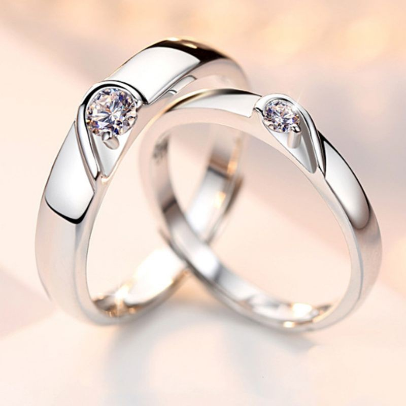 Shining Heart Promise Rings For Couples I Love You Engagement Wedding Ring Band Sets Shopee Philippines