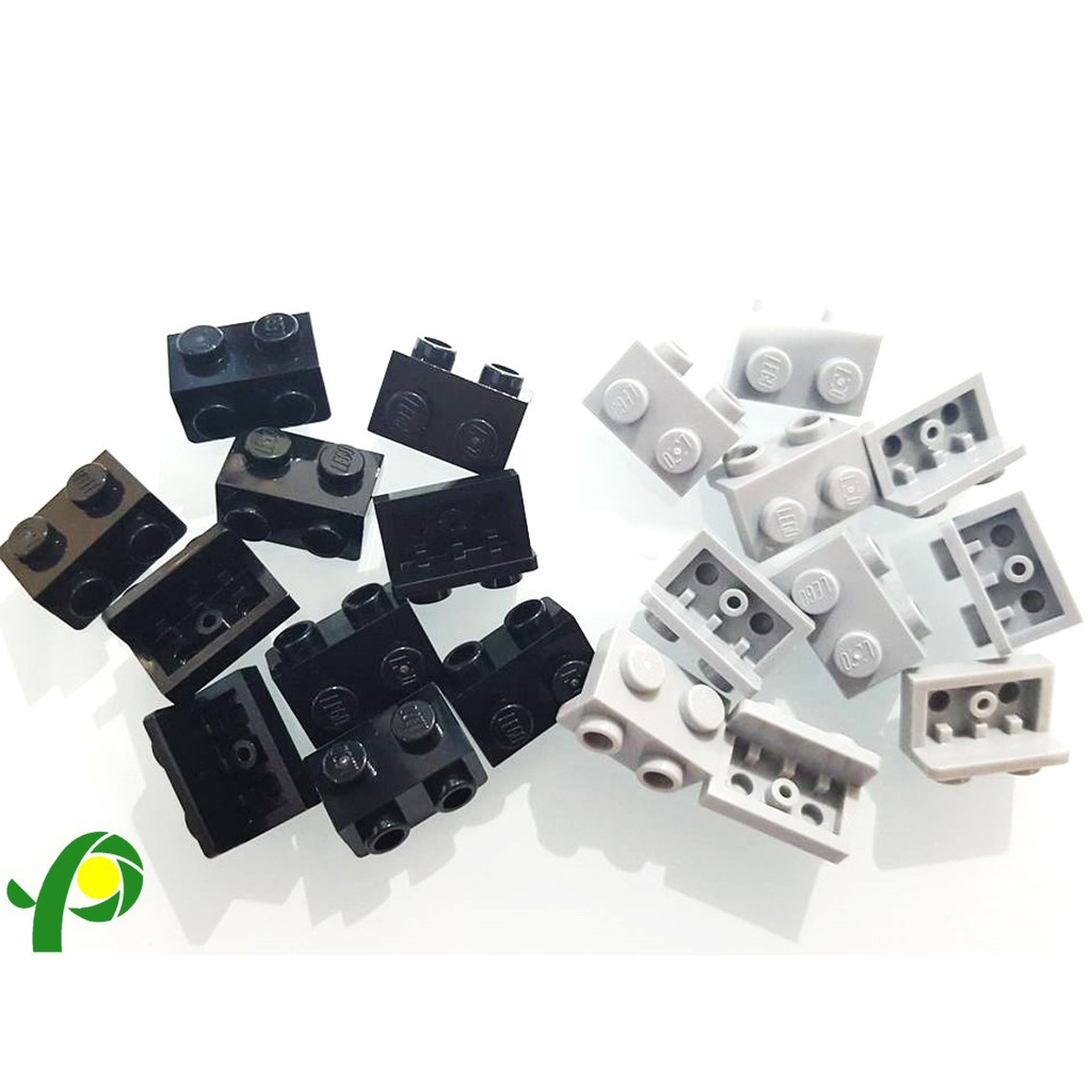 New LEGO Lot of 8 Dark Bluish Gray 1x2 Technic Bricks with Axle Hole