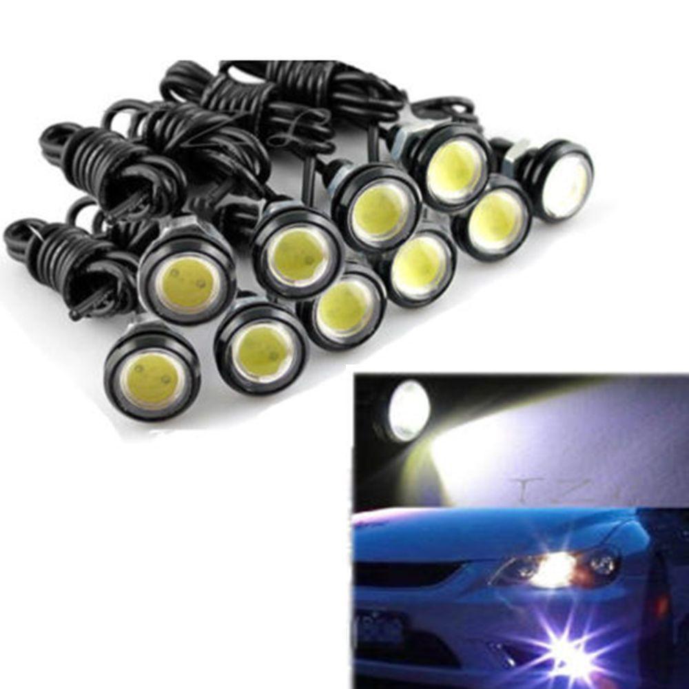 LED Eagle Eye Daytime Running DRL 12V 10W Car Motorcycle Tail Light Lamp 16mm Purple, 2