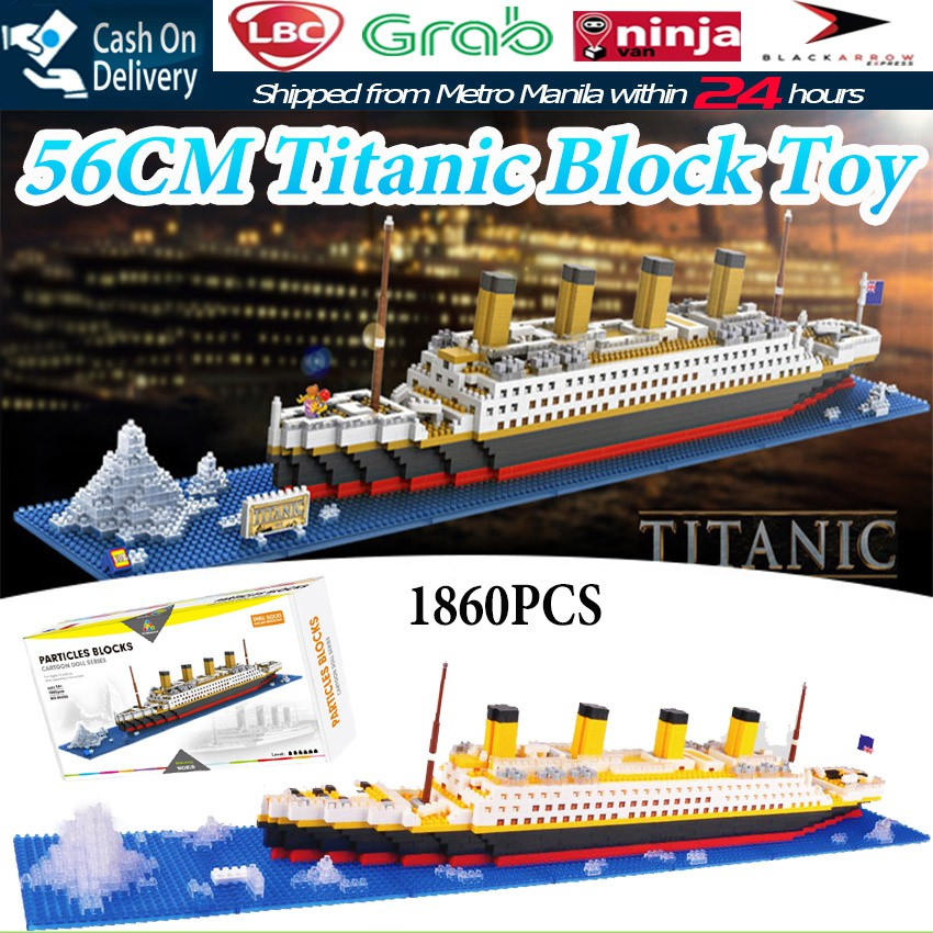 81e5cc55 1860pcs Titanic Cruise Ship Model Boat DIY Building Blocks Brick Kit  Children Kids Educational Toys