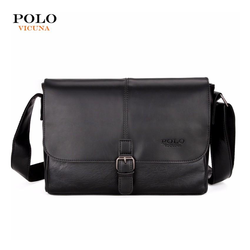 636ba21e6796 Vicuna Polo Clasp Buckle Messenger Bag