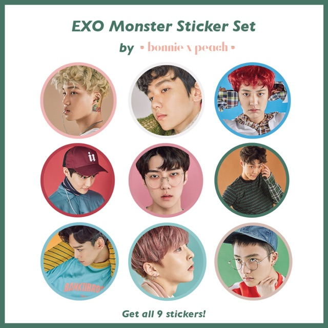 EXO Monster Sticker Set