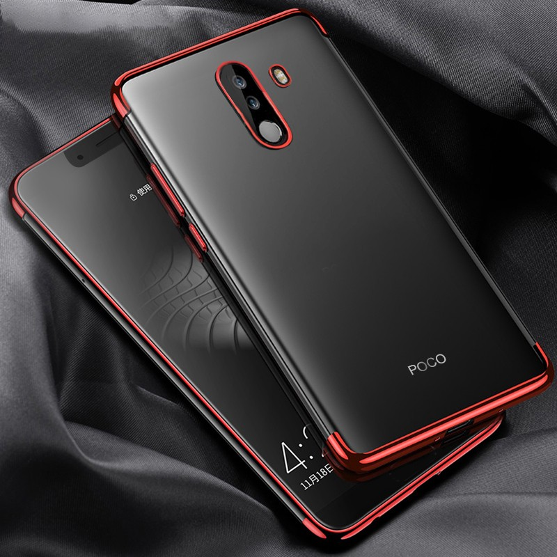 los angeles cc8c6 0a316 Xiaomi Pocophone F1 / Poco F1 Electroplated Clear Phone Case
