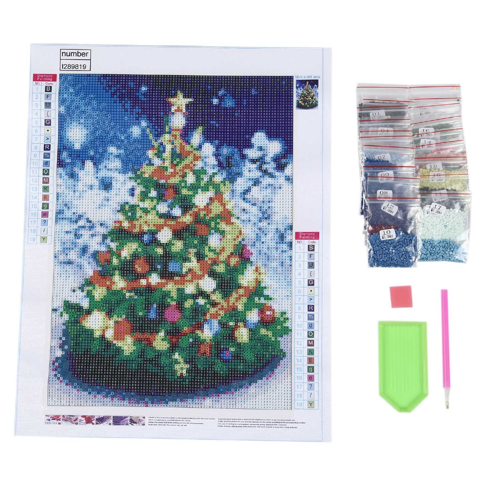 Full Drill 5D Diamond Painting Crafts Stitch Home Decor DIY Christmas Gifts A
