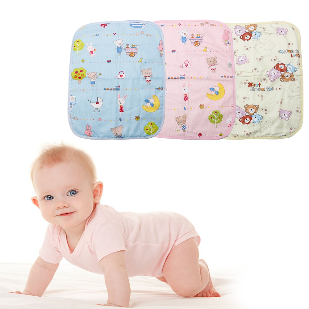 Baby Infant Waterproof Urine Mat Diaper Nappy Kid Bedding Changing Cover Pad P0C