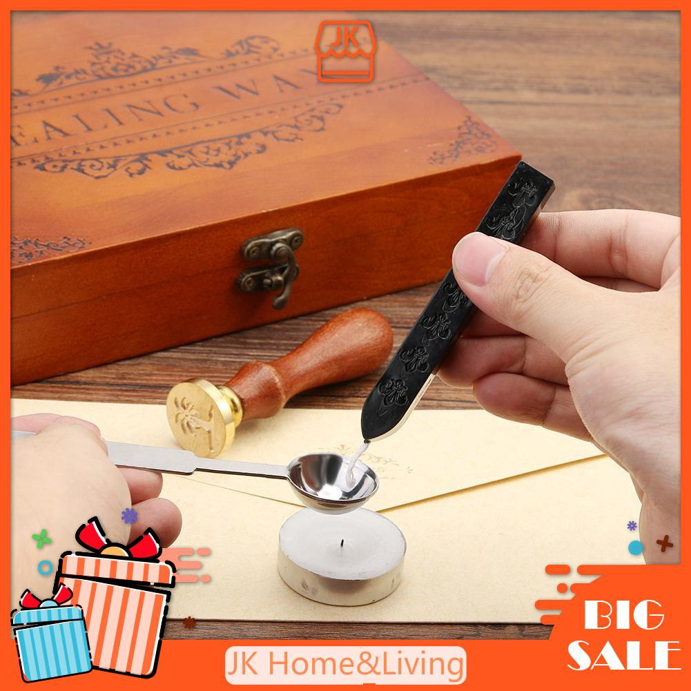 Traditional Wax Sealing Stick for Letters Stamp Seal Melting Candle Envelope New