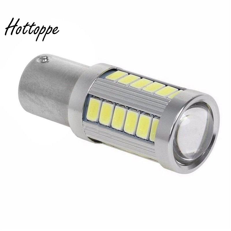2X 1156 BA15S P21W 7506 LED Backup Reverse Lamps Bright White 6500K Light Bulbs