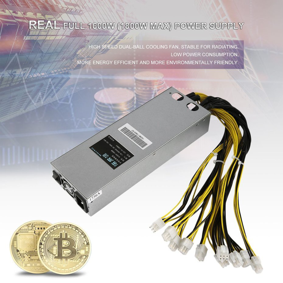 1600W Quiet Mining Machine Power Supply Suitable For For Bitcoin Miner S7