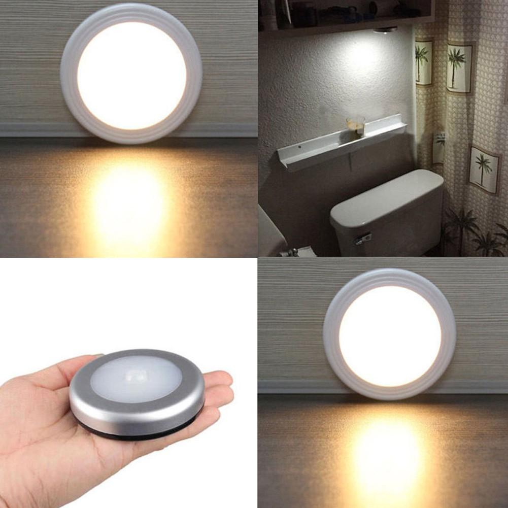 6LED Wireless PIR Auto Motion Sensor Infrared Night Light Cabinet Stair Lamp 1-6