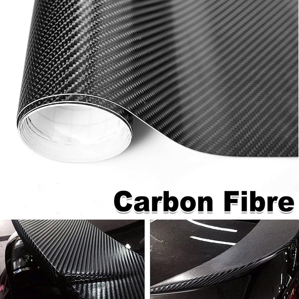 50cm X 1M 3D Black Matte Carbon Fiber Vinyl Film Sticker Car Wrap Motorcycle