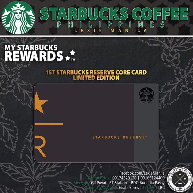 Starbucks Reserve Card Limited Edition