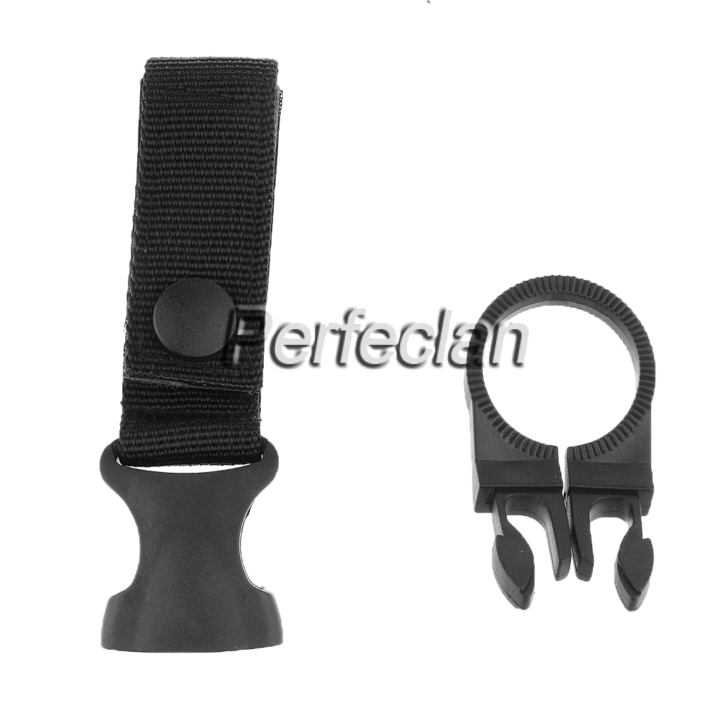 EDC Molle Tactical Nylon Web Buckle Hook Water Bottle Holder Clip 'Carabiner QWH