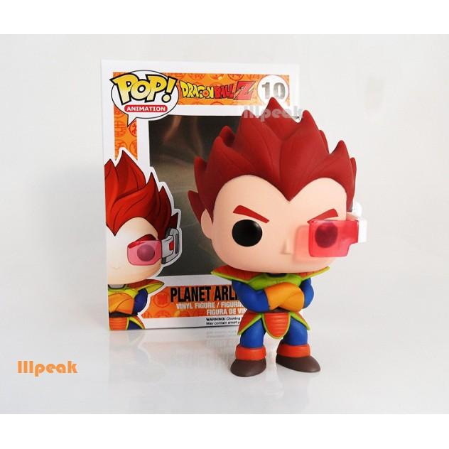 Dragon Ball Funko Pop Dragonball Z #10 Planet Arlia Vegeta Goku Vinyl Figure Toy