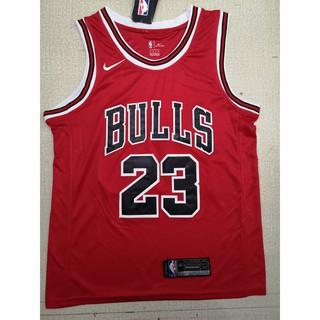 size 40 0088e b5296 NBA Nike Bulls 23 Jordan jersey (red, black) | Shopee ...