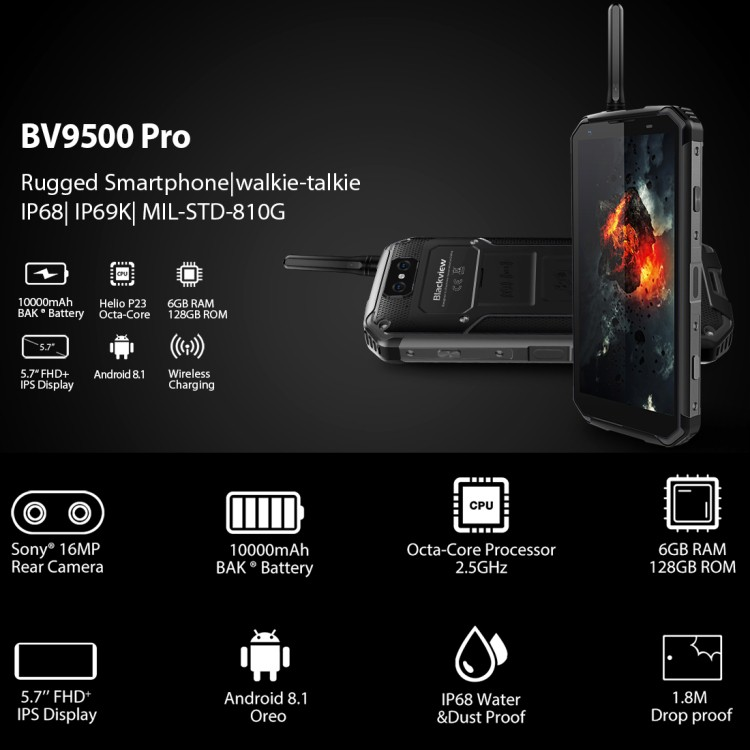 BLACKVIEW BV9500PRO FREE WIRELESS CHARGER