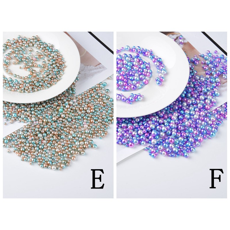1Bag Round Glass Pearl Loose Beads Spacer DIY Jewelry Craft Making S/&K