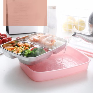 845d2481f08 Stainless Steel Lunch Bento Box Thermal Insulated Lunch Box
