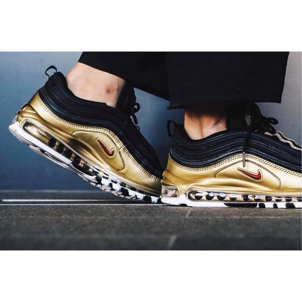 black red and gold air max 97