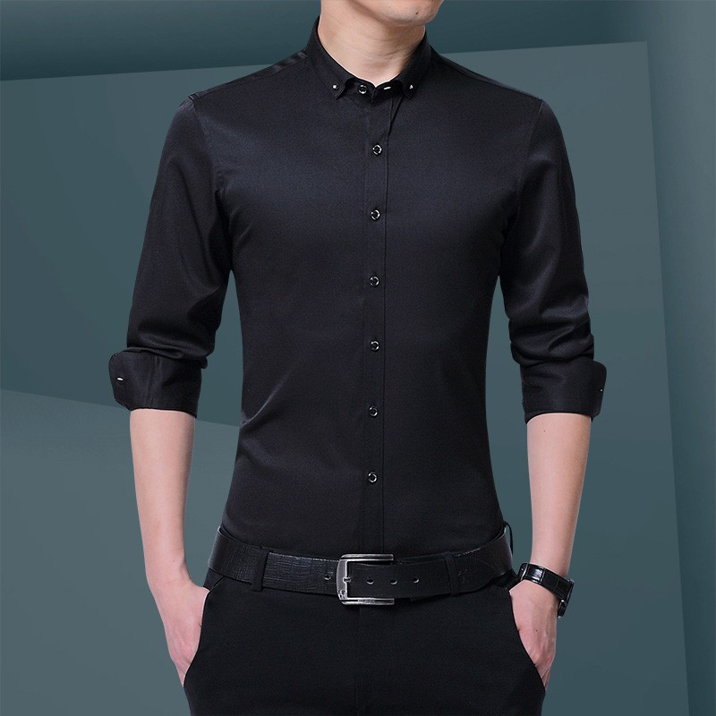 Men Casual Slim Fit Floral Long Sleeve Shirt For Party Shirt Shopee Philippines