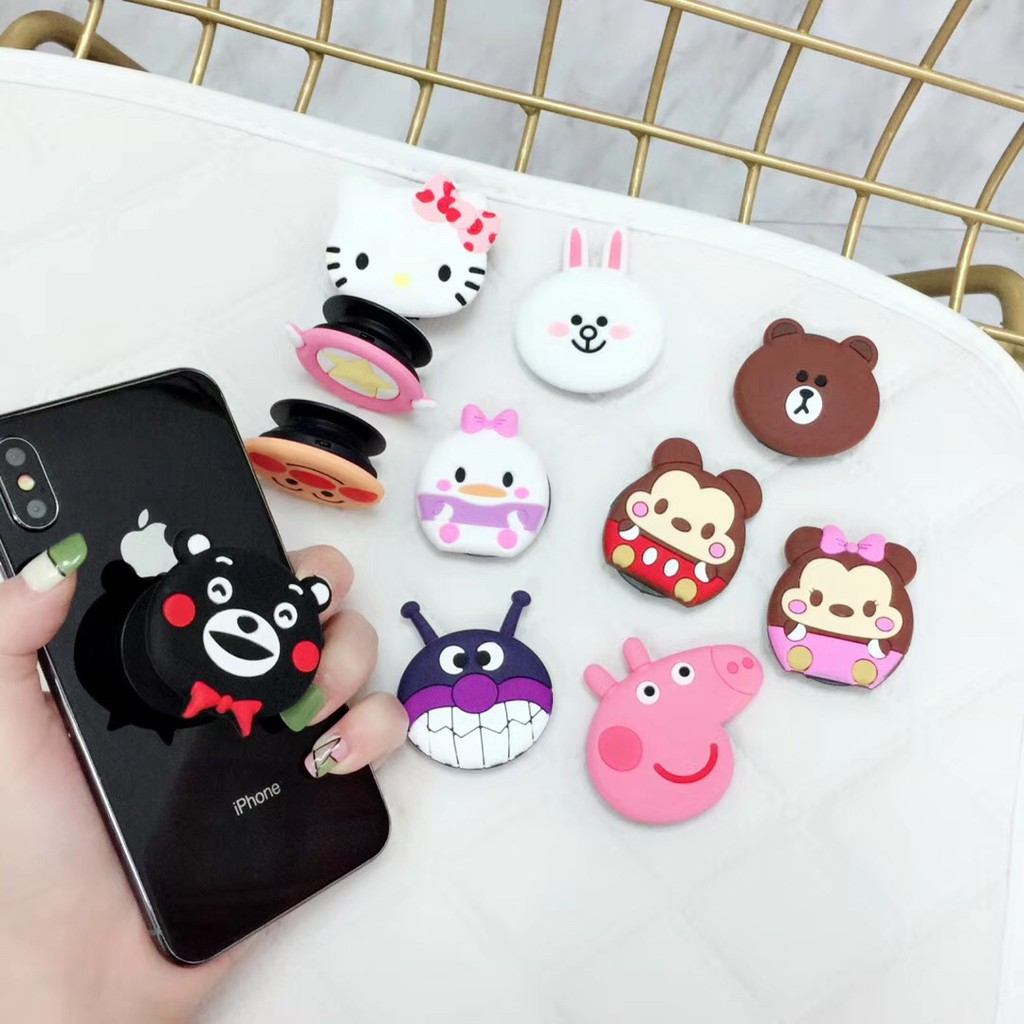 93815a5ba 3D Cartoon Popsocket Phone Holder Stand Hello Kitty Mickey | Shopee  Philippines