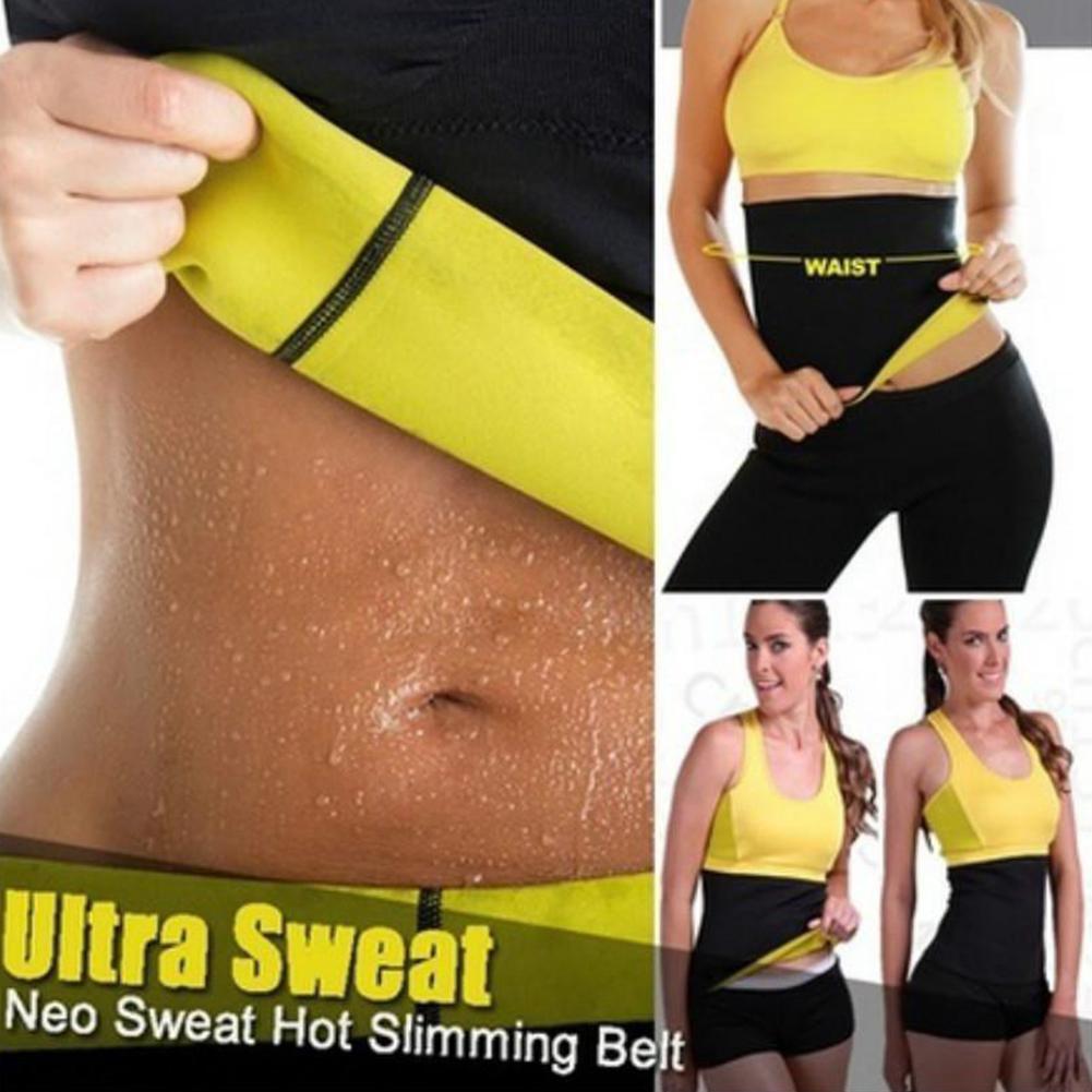 Body Shaper Corset Slim Waist Cincher Trainer Hot Sweat Belt Fitness Yoga Sport Size M,Black