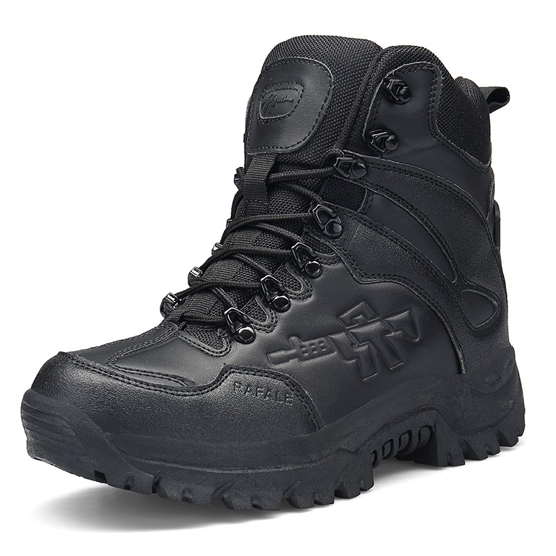 52f2c0a24c0 Men leather tactical boots waterproof tooling shoes