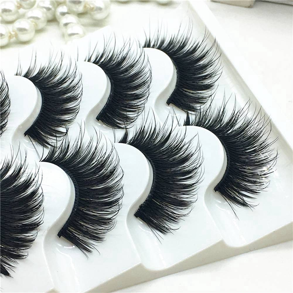 6deb28e8ceb ProductImage. ProductImage. 5Pairs 100% Real Mink 3D Volume Corner Thick  False Eyelashes