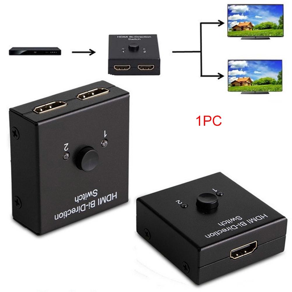 HDMI Splitter 1080P Switch 4K 3D 2 Input To 1 Output Full HD