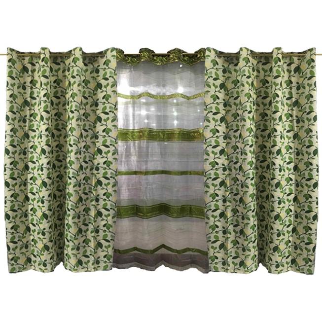 "Green Flower Valance Dollhouse Curtains 3 /"" W x 1 1//4 /"" L"