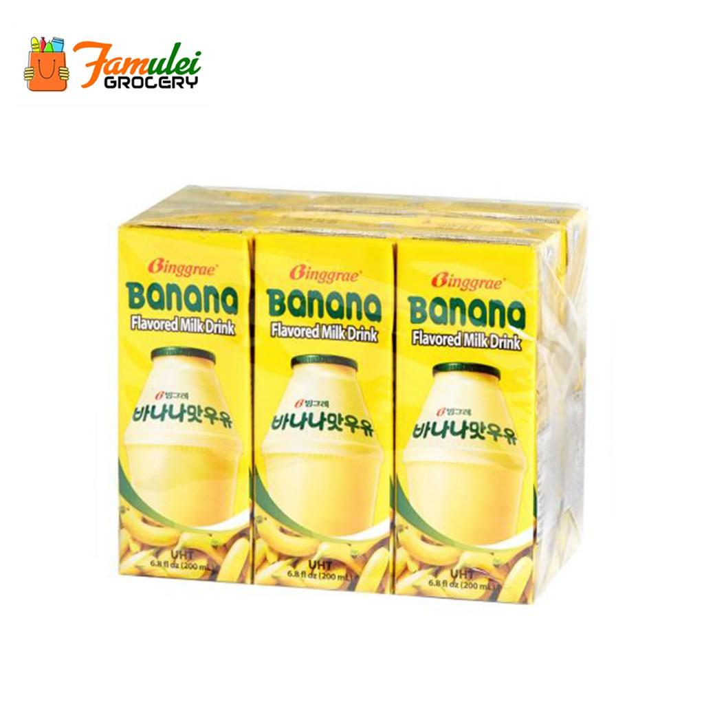 Binggrae Korean Banana Flavored Milk 200ml 6 Packs Shopee Philippines