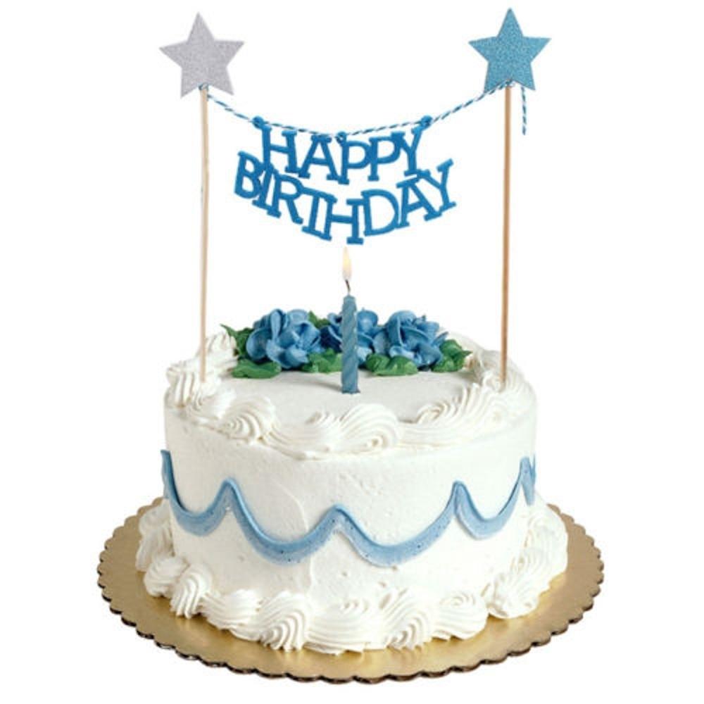 Fantastic Cake Decal Happy Birthday Bunting Star Cake Topper Diy Uniqu Funny Birthday Cards Online Necthendildamsfinfo