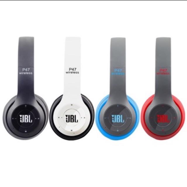 P47 Jbl Wireless Bluetooth On Ear Headphone Headset Shopee Philippines