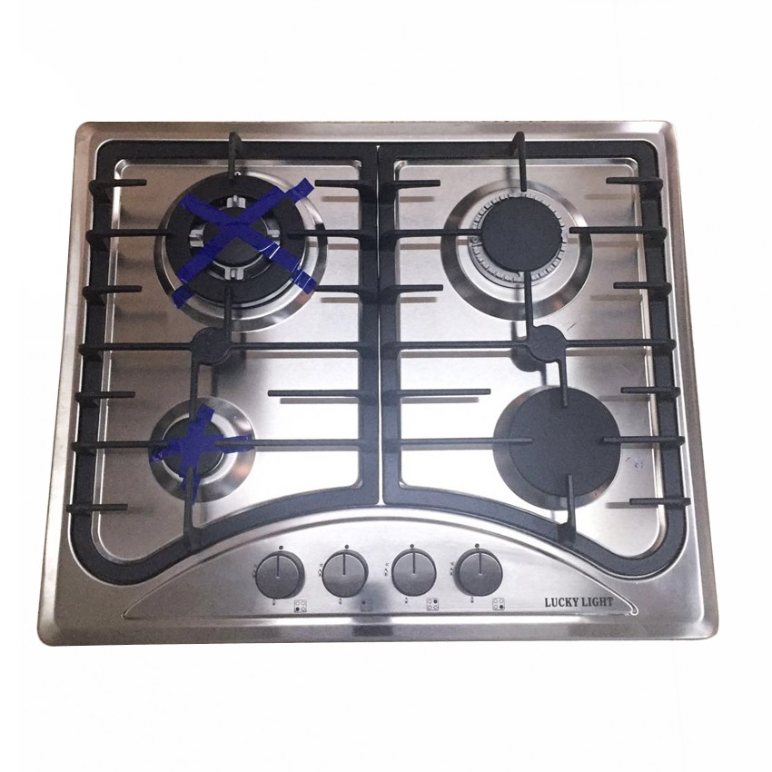4 Burner Stainless Steel Cooktop Kitchen Gas Stove Shopee Philippines
