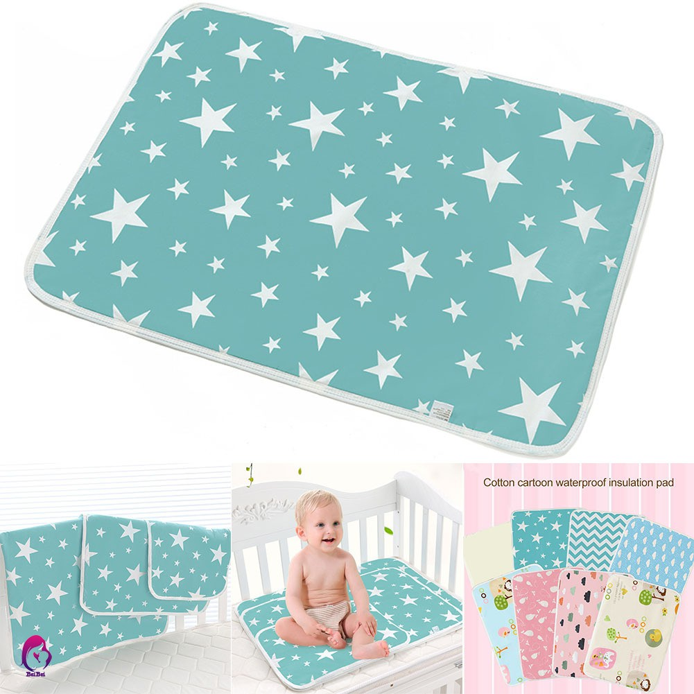 Blue Changing Baby Newborns Infant Diaper Pad Breathable Waterproof Urine Mat Cover