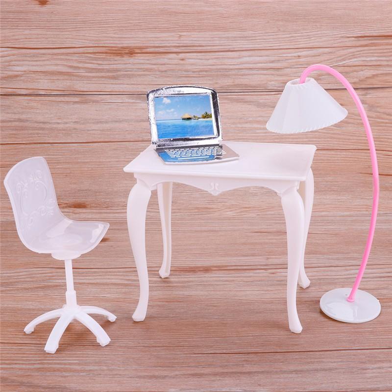 Desk+laptop+chair Model Landscape Sand Model Toy Dollhouse Miniature Furniture New Arrive Toys & Hobbies