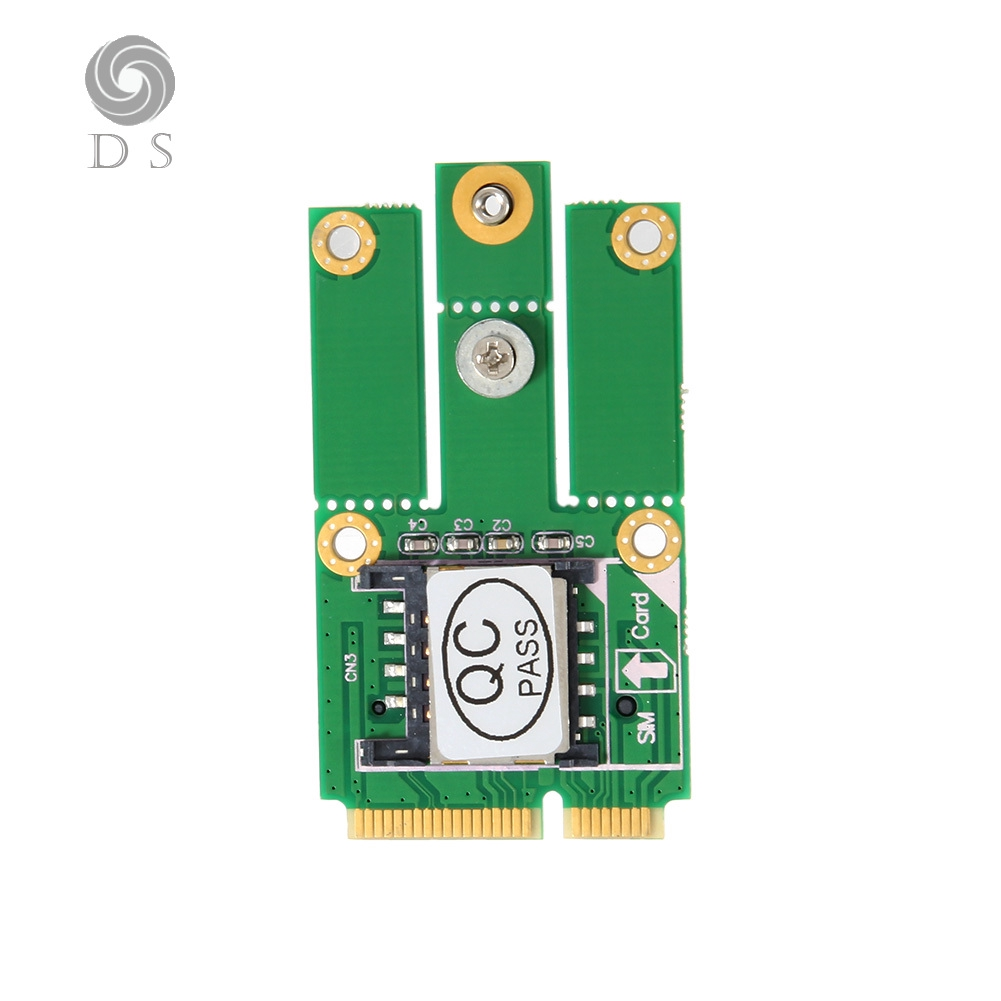 DS✐M 2 NGFF Key to PCI-E Adapter W/ SIM Slot Converter Card