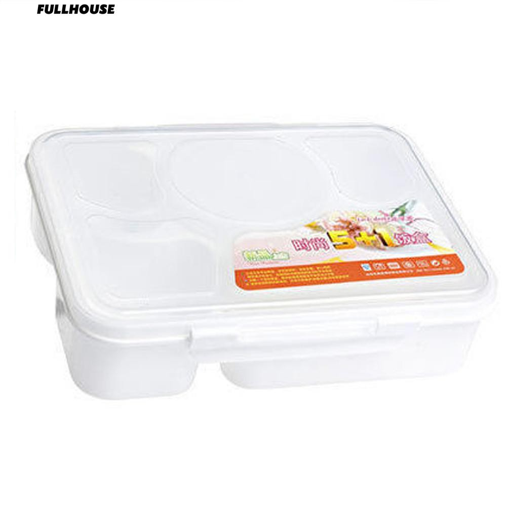 192e8d030824 ₳ Microwave Bento Lunch Box + Spoon Utensils Picnic Food Container Storage  Box