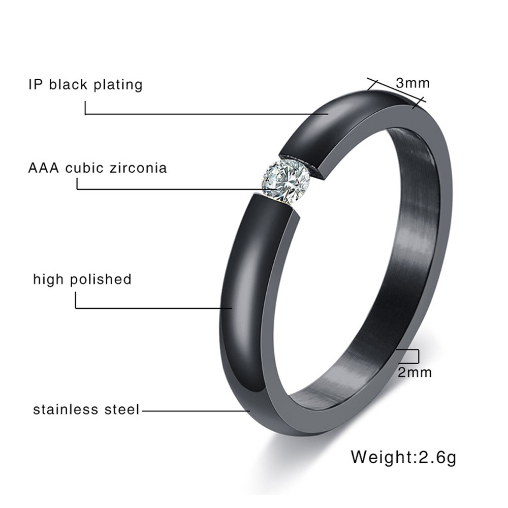 Wedding Band UNISEX No Stones Stainless Steel or 14kt Gold IP Size 5-13
