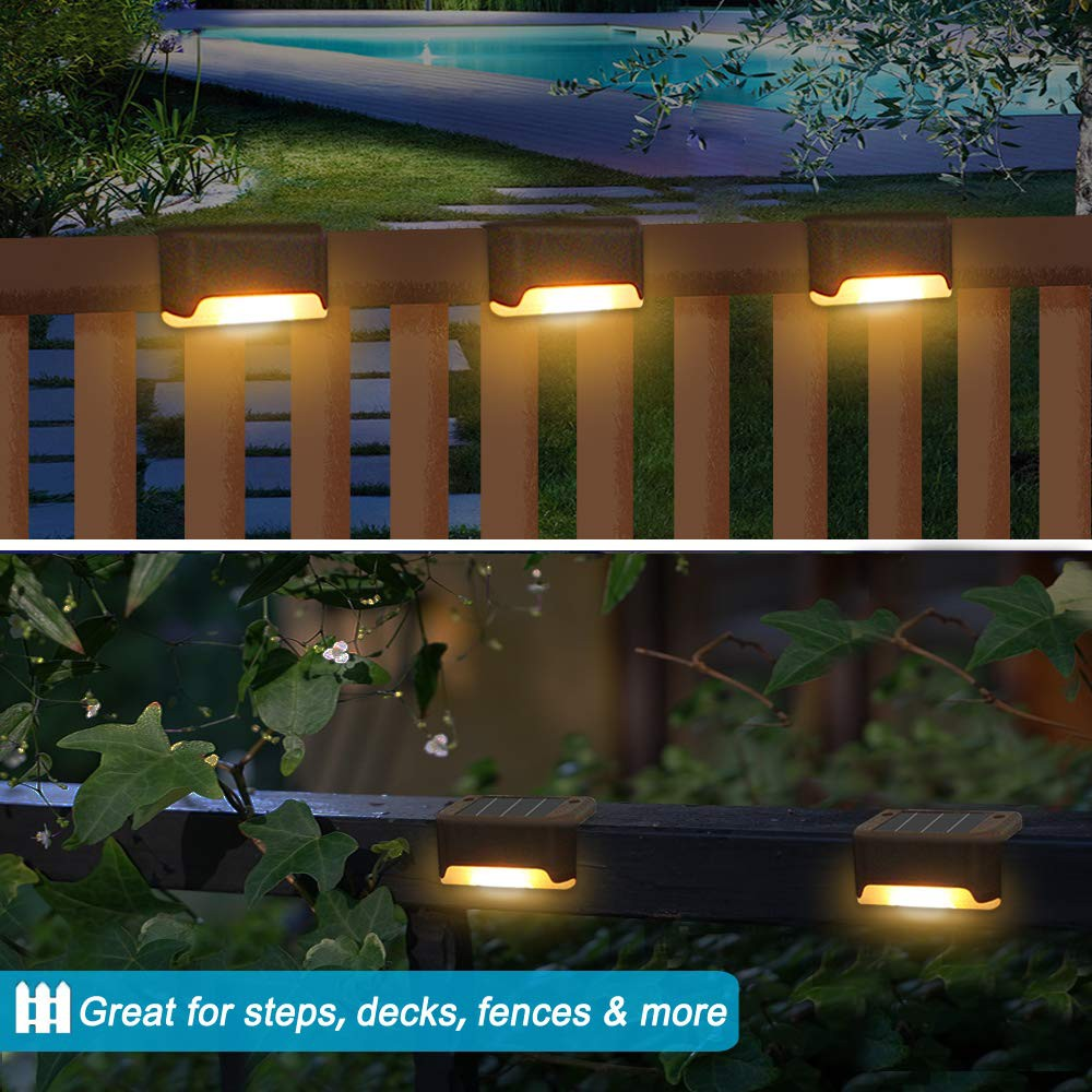 Solar Deck Lights 8 Pcs Solar Step Light Outdoor Motion Led Solar Powered Stair Lights Outdoor For Backyard Stairs Garden Pathway Patio And Fences Warm White Shopee Philippines