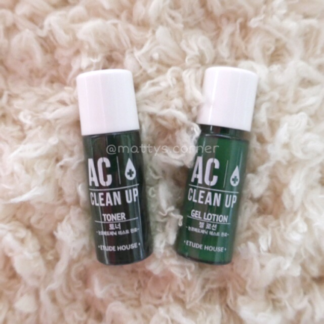[ETUDE HOUSE] AC Clean Up Toner & Gel Lotion (2 items) | Shopee Philippines
