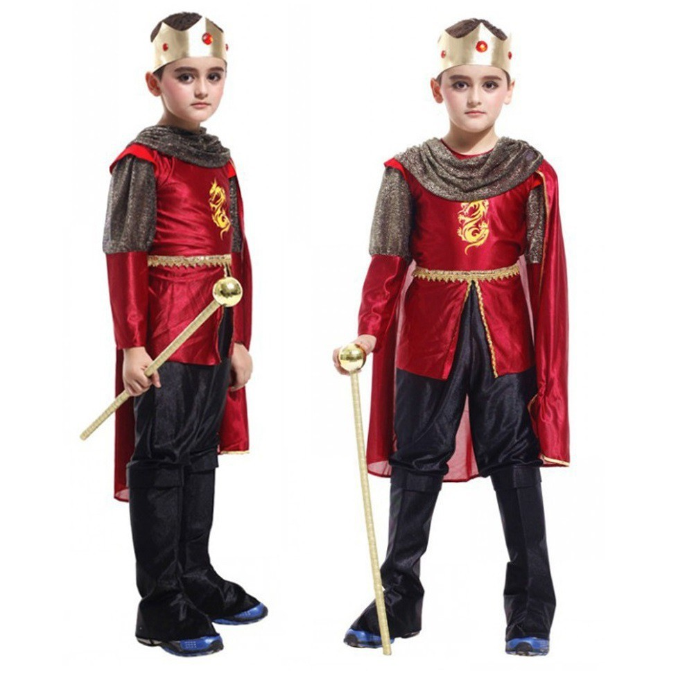 14c666d1808 4pcs Kids Boys Prince King Halloween Costume Role Play Games