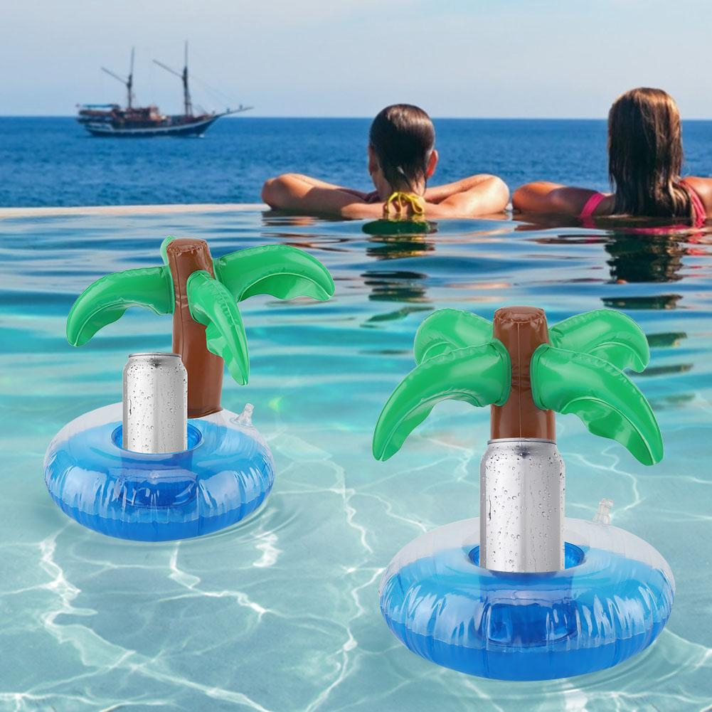 3pcs//lot Outdoor Donuts Inflatable cup holder Swimming Pool Party DecorationsVBU
