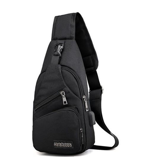 SM Accessories MSense Mens Anti-Theft Body Bag (Grey)  8a58e239236e3